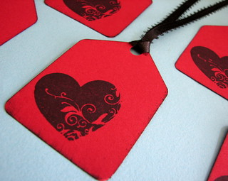 Stamped Heart gift tags | by glamourfae