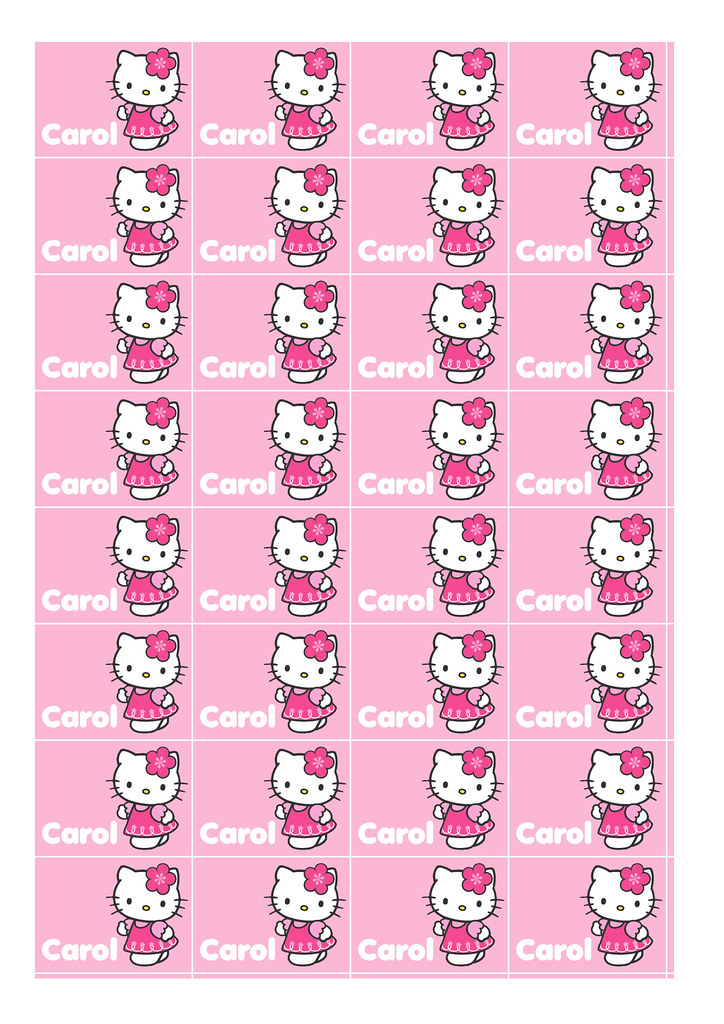 pixel customized and printable hello kitty stickers by hellopixel