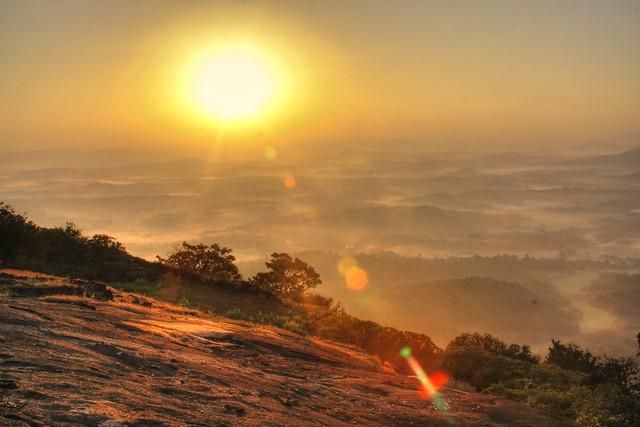 Sunrise from Kundadri Hills