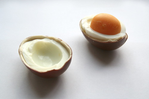 Unexpected Food V.III: Kinder Surprise (Kinderegg) and Hard Boiled Egg | by jcoterhals