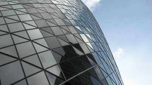 Gherkin - view from St. Mary Axe street | by bortescristian