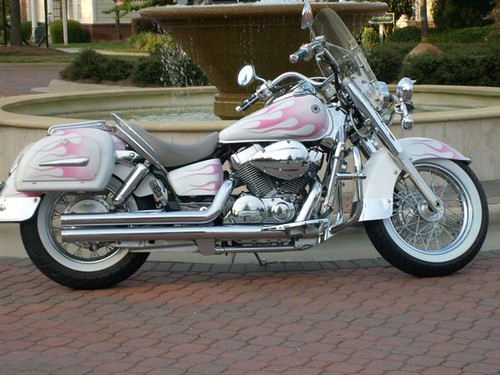2007 wht/pink flames Honda Shadow 750 Aero by jehg1968 | Flickr
