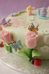 Rose Garden birthday cake - details from back | by CharmChang