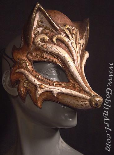 fox mask fox mask by goblin art. Black Bedroom Furniture Sets. Home Design Ideas