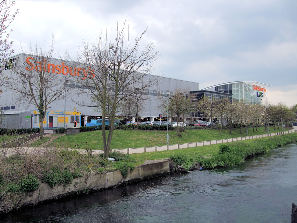 Wandle Modern sainsbury s savacentre on the river wandle merton flickr
