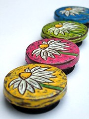 Custom Daisy Magnets | by blockpartypress
