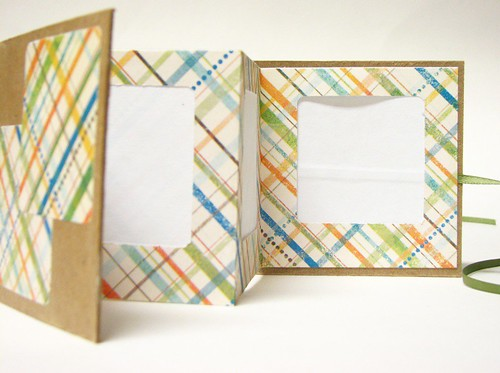 Orange Plaid Mini Frame | by Kiley's Handmade Books