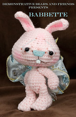 ~Babette~ a Jointed Amigurumi Pink Bunny Rabbit | by cindysickler