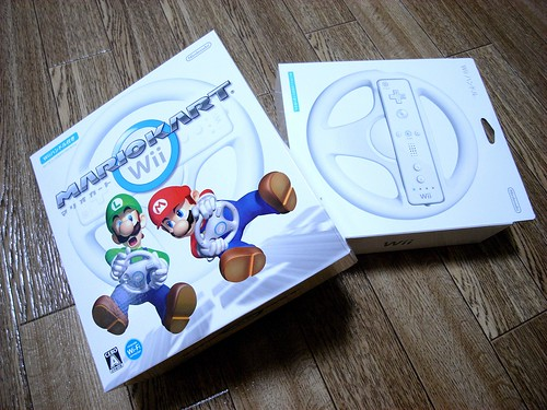Wii mario kart & steering wheel | by bvalium