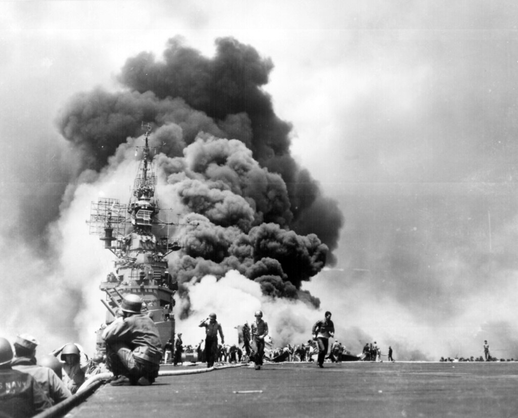 Kamikaze Attack on USS Bunker Hill