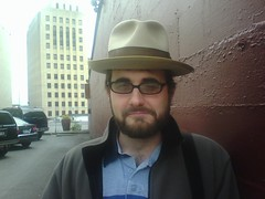 John Hathaway gives RR Anderson Historic Fedora for Safekeeping for Victor of Episode VIII | by Tacoma Urbanist