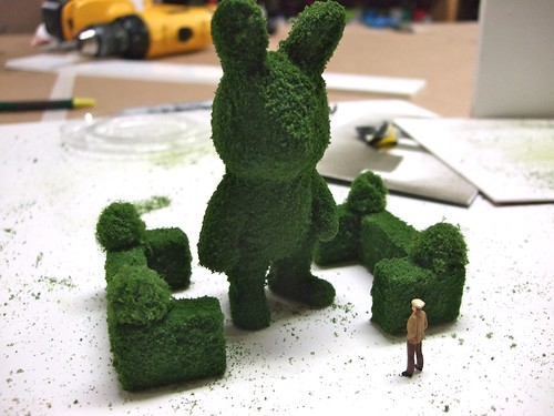 towering topiary bunny | by secretagentmartens