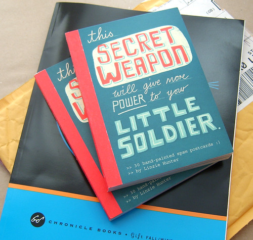 Secret Weapon Postcard Books | by Linzie Hunter