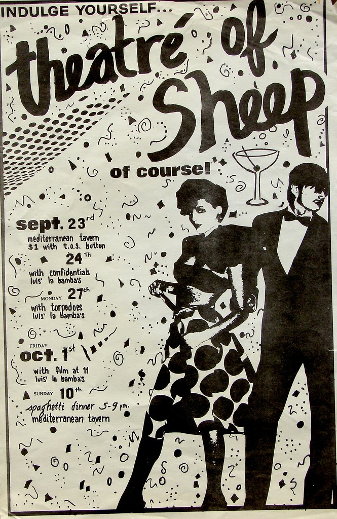 theatre of sheep band poster early 80s theatre of sheep w flickr
