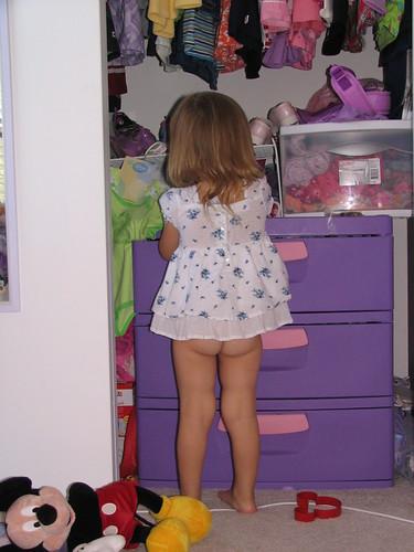 Naked butt