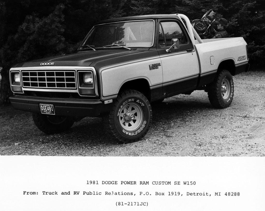 1982 dodge power ram custom se w150 4x4 pickup truck by coconv