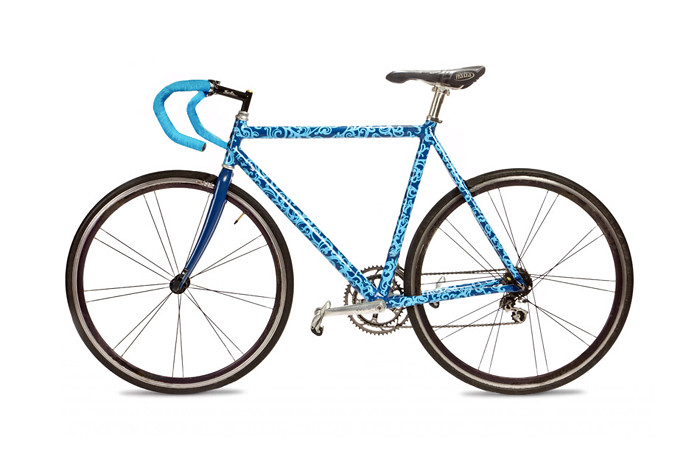 custom painted bike frame by emmystarbrown