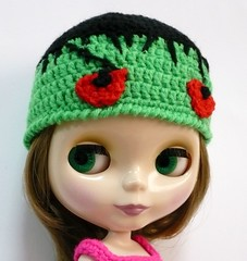 Blythe - Crocheted Hat - Frankenstein-inspired | by melbangel