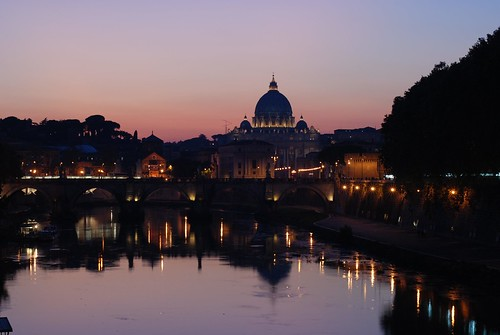 Sunset over San Pietro Basilica | by miguev
