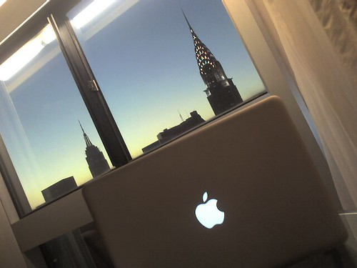 Doing some work in my NY hotel room | by Global X