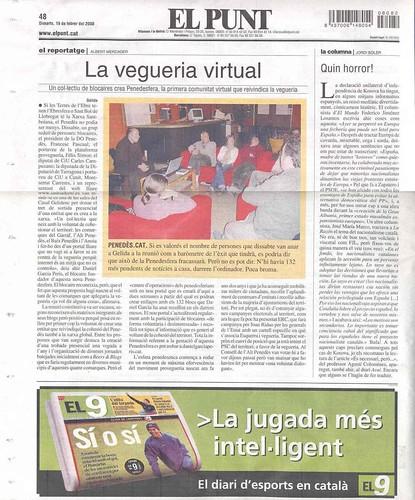 El Punt 19-12-08: La vegueria virtual