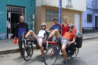 DSC01332 Group pose at Casa de ciclistas as Pius and Stefan leave | by Hobobiker