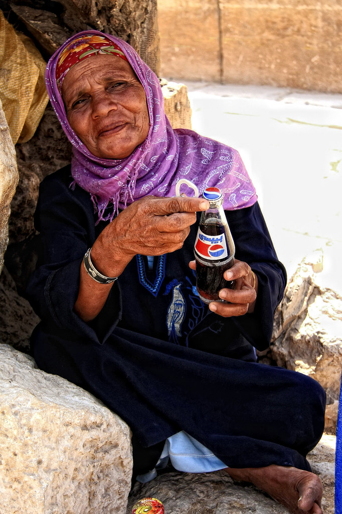 Selling Drinks At The Pyramids