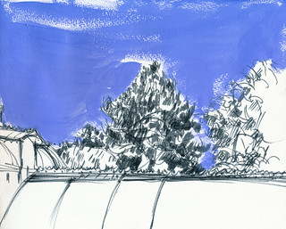 Conservatory of flowers, righthand side of sketch | by Laura Frankstone