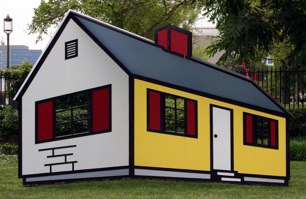 House I - Roy Lichtenstein   Painted in Lichtenstein\'s almos…   Flickr