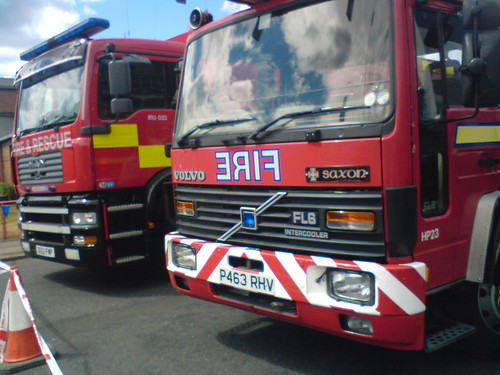 (10) London Fire Brigade MAN Marshall SV Incident Response Unit & Volvo FL6 Intercooler - P463 RHV - Saxon - Simon Snorkel - P463 RHV | by Call the Cops 999