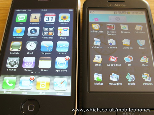 T-Mobile Android G1 vs Apple iPhone 3G