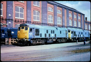 Class 08 08365 plus Class 24 24134 and 24079 at Swindon Works | by olympusOM1