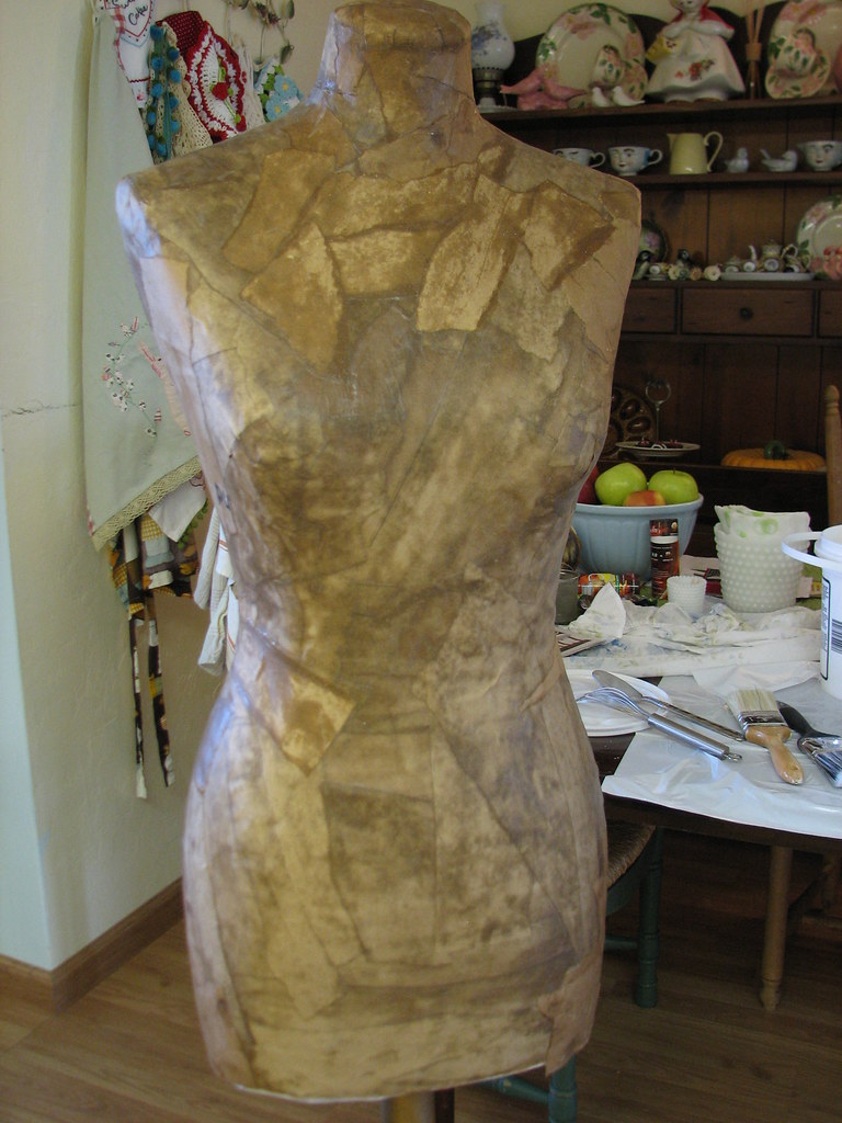Making a paper mache dress form using my fabric form as a … | Flickr