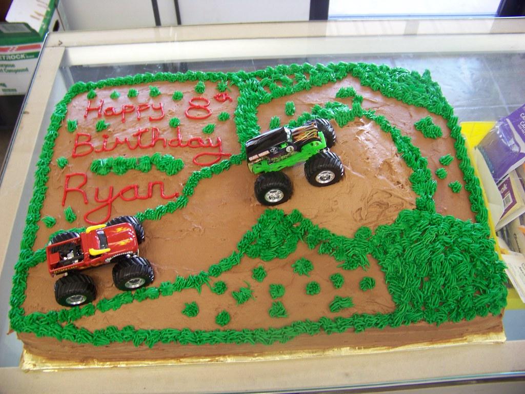 Monster Truck Birthday Cake A 12 Sheet Chocolate Cake Cov Flickr