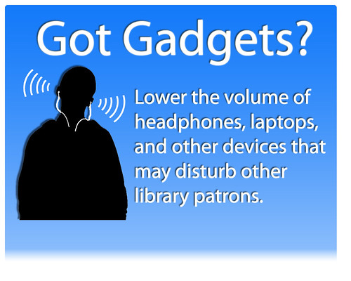 Library Sign - Gadgets - Blue | by CCAC North Library