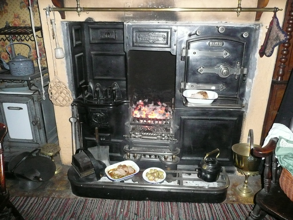 The Victorian Kitchen Company The Victorian Kitchen Fireplace A Huge Fire Glows In The G Flickr