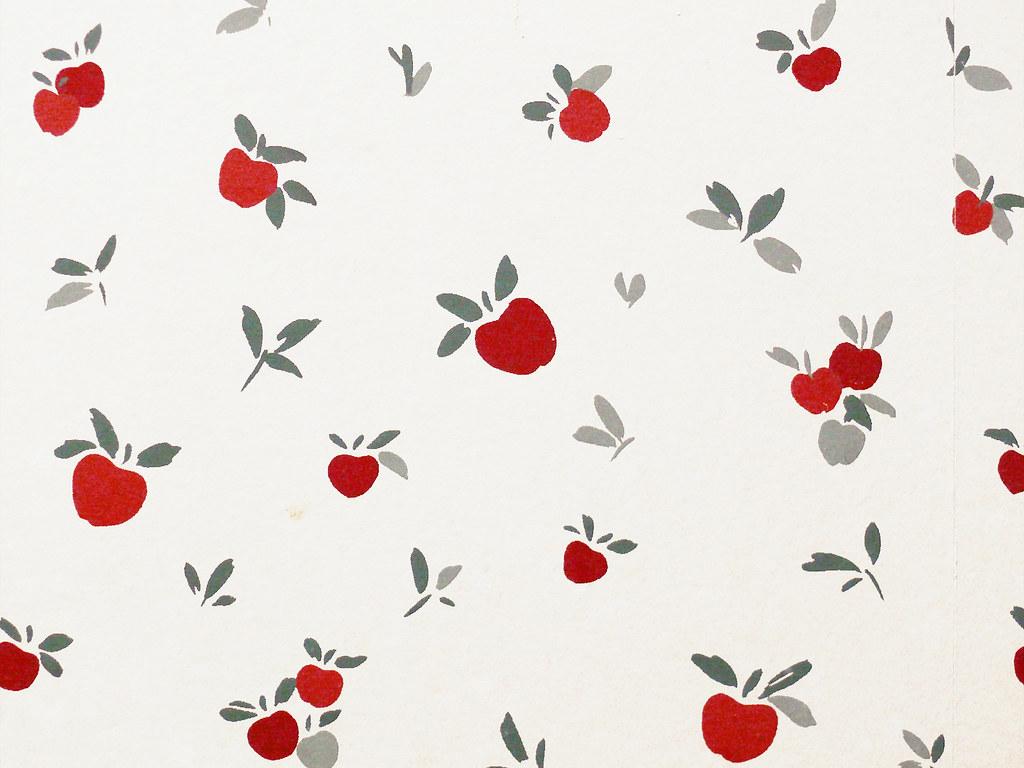 apples wallpaper, wenatchee la quinta inn bathroom | flickr