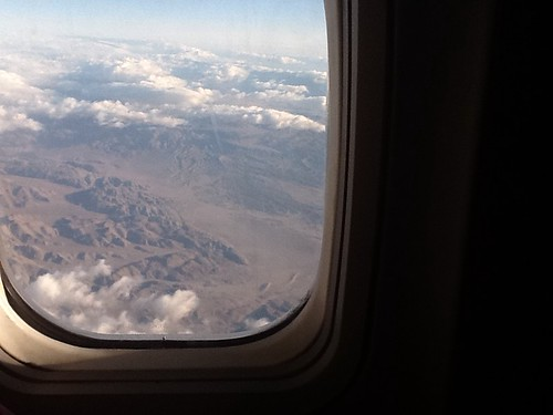 Sitting on a freaking plane, having freaking WiFi! Future's here! Image of Borrego desert from the plane: | by yatil