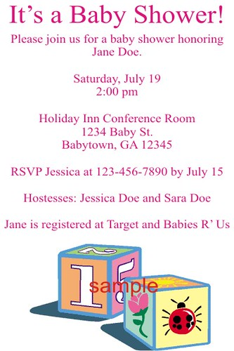 baby shower invitations personalized custom printable by