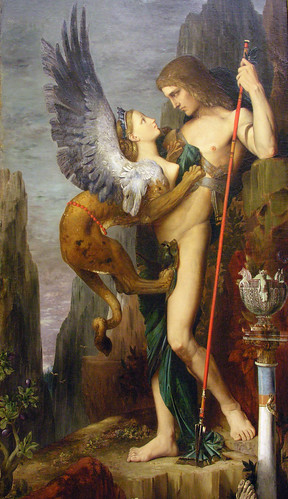 Gustave Moreau: Oedipus and the Sphinx (1864) | by euthman