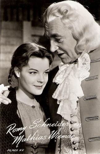 Romy Schneider and Mathias Wieman in Robinson soll nicht sterben (1957)