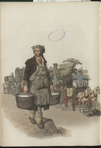 A Waterman at a Hackney Coach Stand by W H Pyne, 1805 | by Bristol Libraries