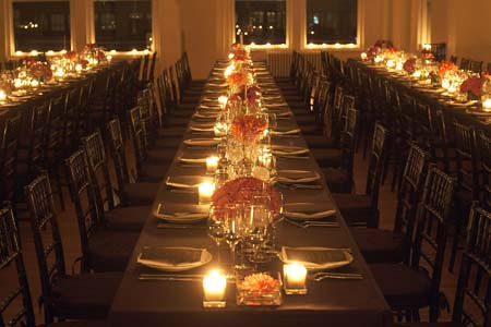 Candles Centerpieces Table Settings Wedding Reception