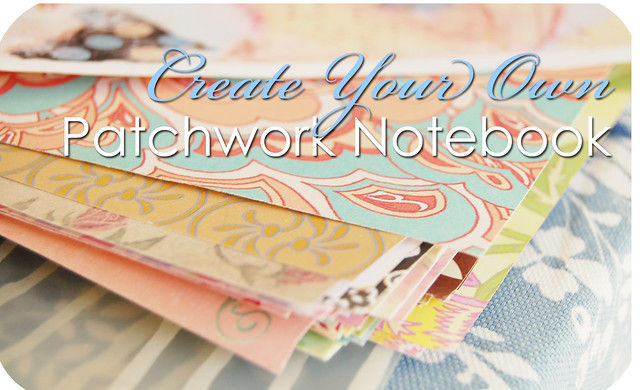 How to make a Paper Patchwork Notebook Cover - tutorial by @ihanna