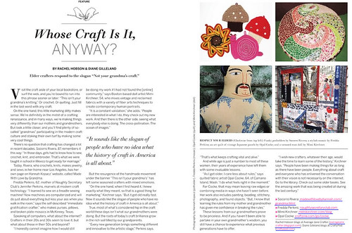 My article in CRAFT09! | by average_jane_crafter