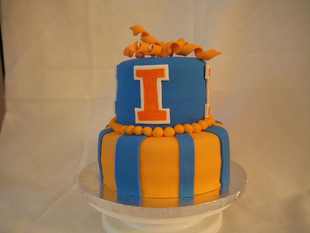 University Of Illinois Birthday Cake Two Tier Birthday Cak Flickr