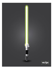 Create a Glowing Vector Lightsaber | by vectips