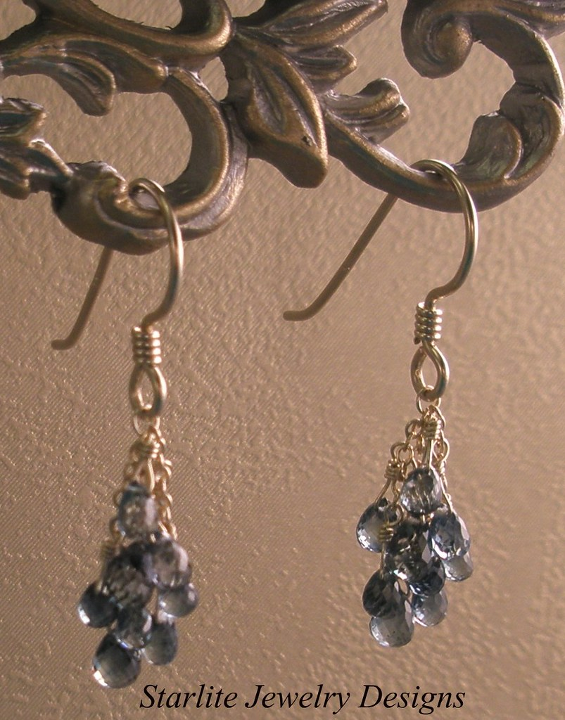 Starlite Jewelry Designs Blue Sapphire Briolette Earring Flickr