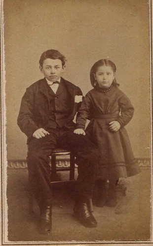 Cute Raven Haired Children | by 19th Century Photographic Images