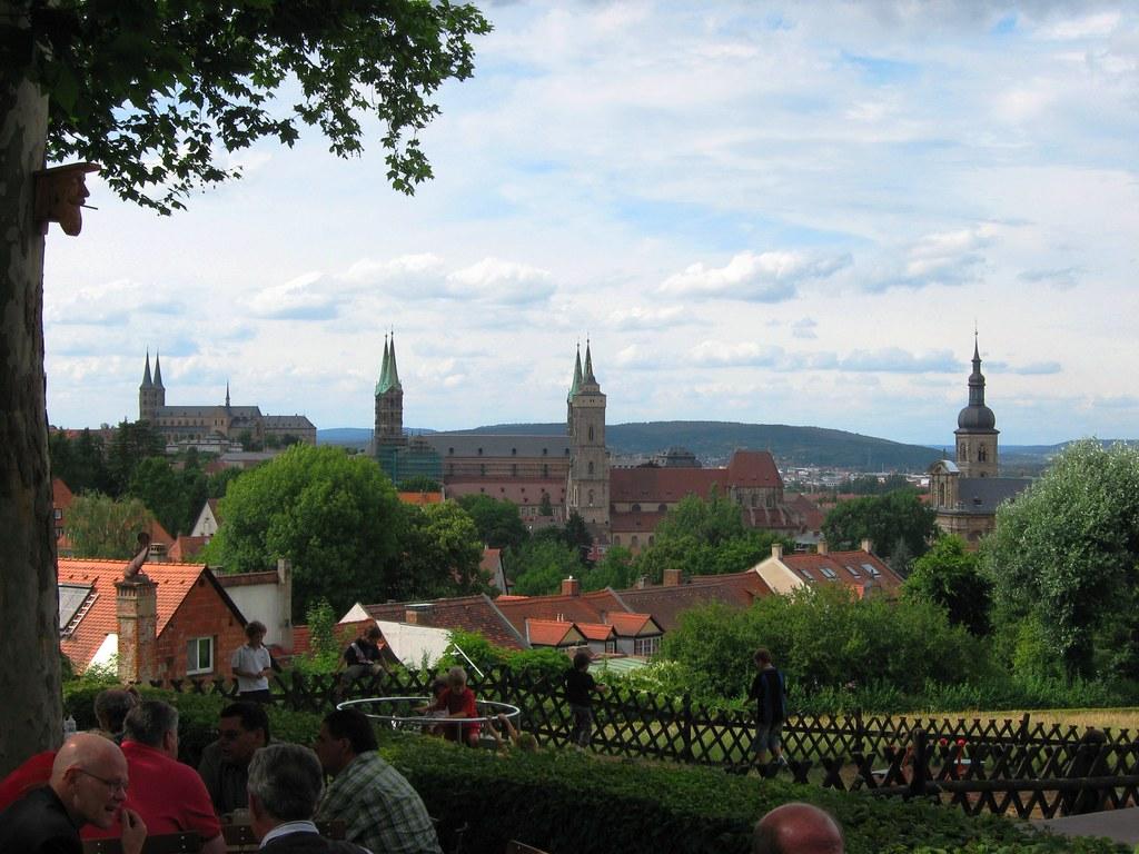 Bamberg Spezialkeller A Biergarten With A Fine View Of Th Flickr
